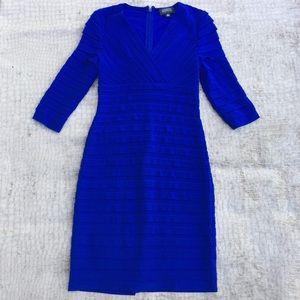 Adriana Papell Ruffle Front Bodycon Dress